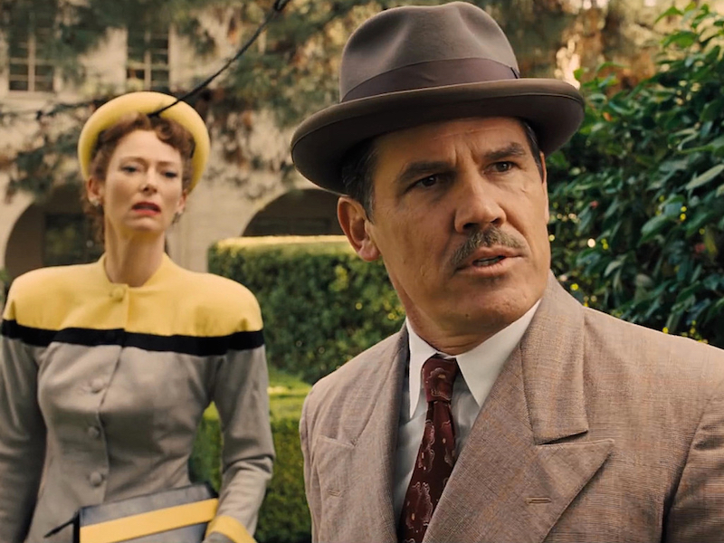 Tilda Swinton and Josh Brolin in Hail, Caesar!