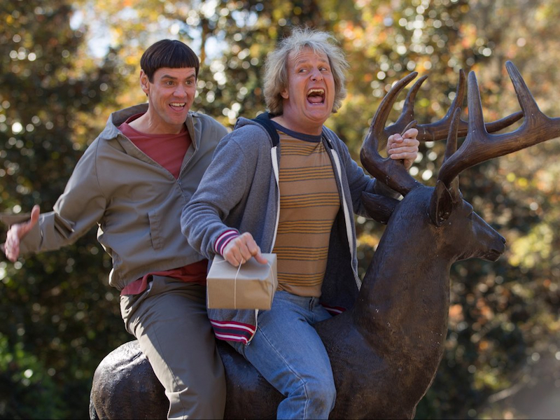 Jim Carrey and Jeff Daniels in Dumb and Dumber To