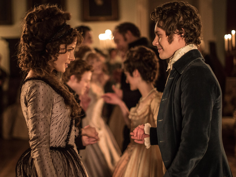 Kate Beckinsale and Xavier Samuel in Love & Friendship