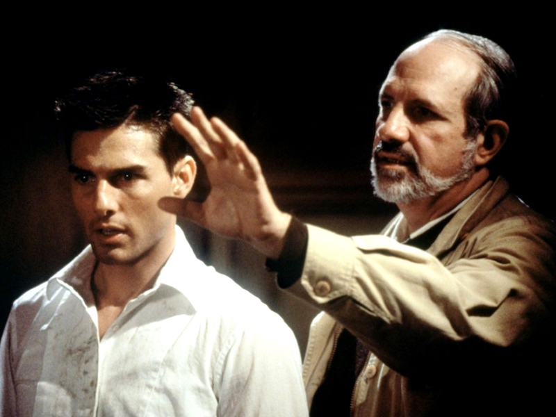 Tom Cruise and Brian De Palma in De Palma